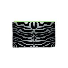 Skin2 Black Marble & Silver Brushed Metal Cosmetic Bag (xs) by trendistuff