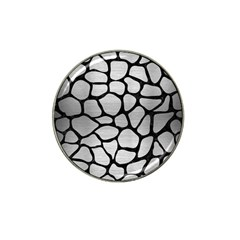 Skin1 Black Marble & Silver Brushed Metal Hat Clip Ball Marker (10 Pack) by trendistuff