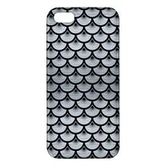 Scales3 Black Marble & Silver Brushed Metal (r) Apple Iphone 5 Premium Hardshell Case by trendistuff
