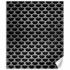 Scales3 Black Marble & Silver Brushed Metal Canvas 20  X 24  by trendistuff