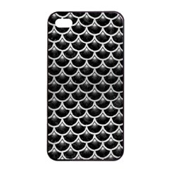 Scales3 Black Marble & Silver Brushed Metal Apple Iphone 4/4s Seamless Case (black) by trendistuff