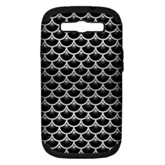 SCA3 BK MARBLE SILVER Samsung Galaxy S III Hardshell Case (PC+Silicone) by trendistuff