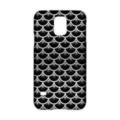 Scales3 Black Marble & Silver Brushed Metal Samsung Galaxy S5 Hardshell Case  by trendistuff