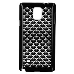Scales3 Black Marble & Silver Brushed Metal Samsung Galaxy Note 4 Case (black) by trendistuff