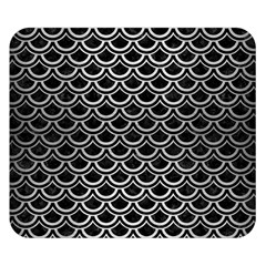 Scales2 Black Marble & Silver Brushed Metal Double Sided Flano Blanket (small) by trendistuff