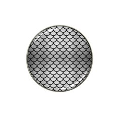 Scales1 Black Marble & Silver Brushed Metal (r) Hat Clip Ball Marker by trendistuff