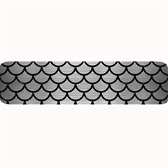 Scales1 Black Marble & Silver Brushed Metal (r) Large Bar Mat by trendistuff
