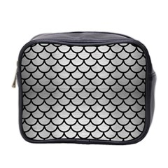 Scales1 Black Marble & Silver Brushed Metal (r) Mini Toiletries Bag (two Sides) by trendistuff