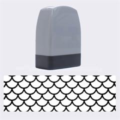 Scales1 Black Marble & Silver Brushed Metal (r) Name Stamp by trendistuff