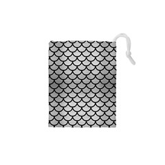 Scales1 Black Marble & Silver Brushed Metal (r) Drawstring Pouch (xs) by trendistuff