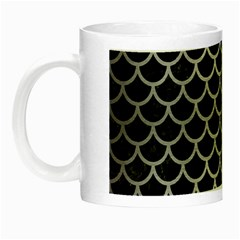 Scales1 Black Marble & Silver Brushed Metal Night Luminous Mug by trendistuff