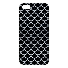 Scales1 Black Marble & Silver Brushed Metal Iphone 5s/ Se Premium Hardshell Case by trendistuff