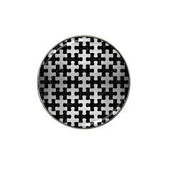 Puzzle1 Black Marble & Silver Brushed Metal Hat Clip Ball Marker by trendistuff