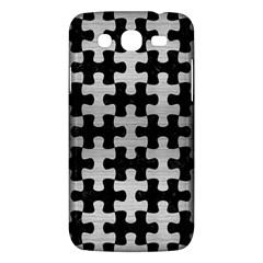 Puzzle1 Black Marble & Silver Brushed Metal Samsung Galaxy Mega 5 8 I9152 Hardshell Case  by trendistuff