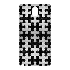 Puzzle1 Black Marble & Silver Brushed Metal Samsung Galaxy Note 3 N9005 Hardshell Back Case by trendistuff
