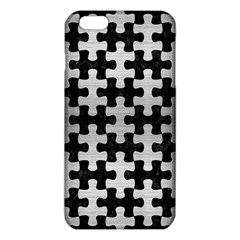 Puzzle1 Black Marble & Silver Brushed Metal Iphone 6 Plus/6s Plus Tpu Case by trendistuff