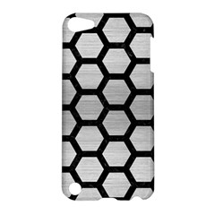Hexagon2 Black Marble & Silver Brushed Metal (r) Apple Ipod Touch 5 Hardshell Case by trendistuff