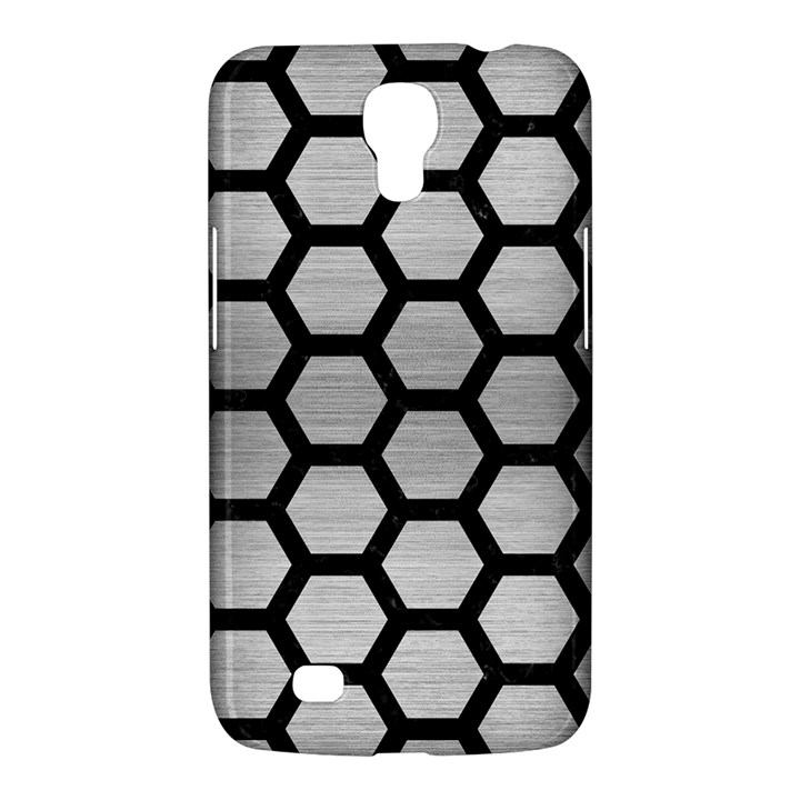 HEXAGON2 BLACK MARBLE & SILVER BRUSHED METAL (R) Samsung Galaxy Mega 6.3  I9200 Hardshell Case
