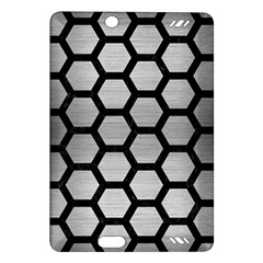 Hexagon2 Black Marble & Silver Brushed Metal (r) Amazon Kindle Fire Hd (2013) Hardshell Case by trendistuff