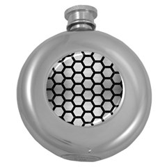 Hexagon2 Black Marble & Silver Brushed Metal Hip Flask (5 Oz) by trendistuff