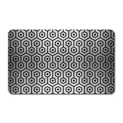 Hexagon1 Black Marble & Silver Brushed Metal (r) Magnet (rectangular) by trendistuff
