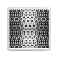 Hexagon1 Black Marble & Silver Brushed Metal (r) Memory Card Reader (square) by trendistuff
