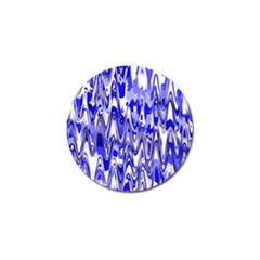 Funky Chevron Blue Golf Ball Marker by MoreColorsinLife