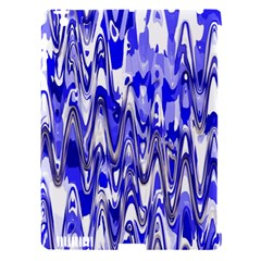 Funky Chevron Blue Apple Ipad 3/4 Hardshell Case (compatible With Smart Cover) by MoreColorsinLife