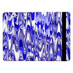 Funky Chevron Blue Samsung Galaxy Tab Pro 12 2  Flip Case by MoreColorsinLife
