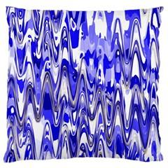 Funky Chevron Blue Standard Flano Cushion Cases (one Side)  by MoreColorsinLife