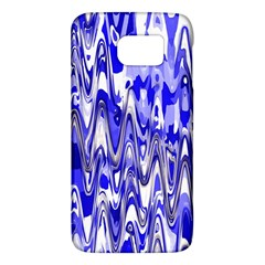 Funky Chevron Blue Galaxy S6 by MoreColorsinLife