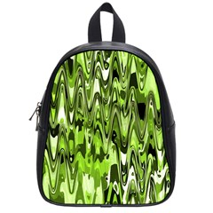 Funky Chevron Green School Bags (small)  by MoreColorsinLife