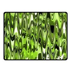 Funky Chevron Green Fleece Blanket (small) by MoreColorsinLife