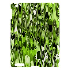 Funky Chevron Green Apple Ipad 3/4 Hardshell Case by MoreColorsinLife