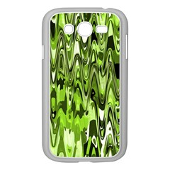 Funky Chevron Green Samsung Galaxy Grand Duos I9082 Case (white) by MoreColorsinLife