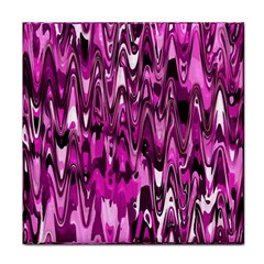 Funky Chevron Hot Pink Tile Coasters by MoreColorsinLife