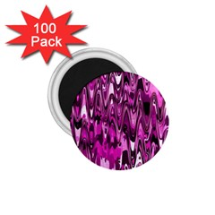 Funky Chevron Hot Pink 1 75  Magnets (100 Pack)  by MoreColorsinLife