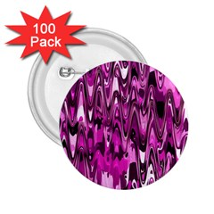 Funky Chevron Hot Pink 2 25  Buttons (100 Pack)  by MoreColorsinLife