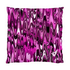 Funky Chevron Hot Pink Standard Cushion Case (one Side)  by MoreColorsinLife