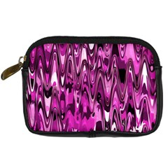 Funky Chevron Hot Pink Digital Camera Cases by MoreColorsinLife