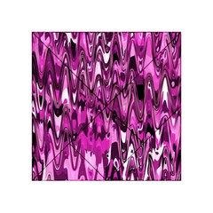 Funky Chevron Hot Pink Acrylic Tangram Puzzle (4  x 4 ) by MoreColorsinLife