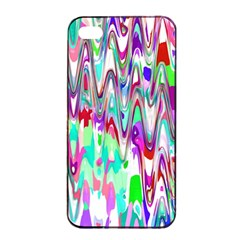 Funky Chevron Multicolor Apple Iphone 4/4s Seamless Case (black) by MoreColorsinLife