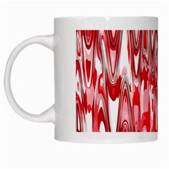 Funky Chevron Red White Mugs by MoreColorsinLife