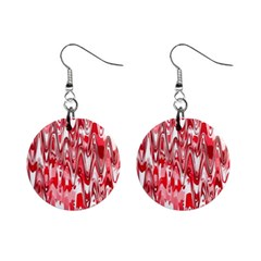 Funky Chevron Red Mini Button Earrings by MoreColorsinLife