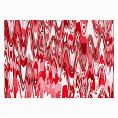 Funky Chevron Red Large Glasses Cloth by MoreColorsinLife