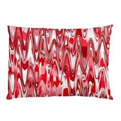 Funky Chevron Red Pillow Cases by MoreColorsinLife