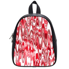 Funky Chevron Red School Bags (Small)  by MoreColorsinLife