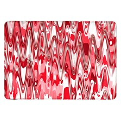 Funky Chevron Red Samsung Galaxy Tab 8 9  P7300 Flip Case by MoreColorsinLife