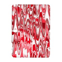 Funky Chevron Red Samsung Galaxy Note 10.1 (P600) Hardshell Case by MoreColorsinLife