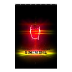 Famous Last Words   Du Kommst Auf Den Grill Shower Curtain 48  X 72  (small)